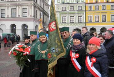 Zamojskie obchody 95 rocznicy Odzyskania Niepodległości.