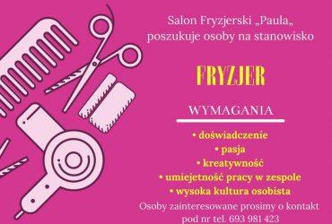 Uwaga oferta pracy dla fryzjera!